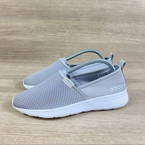 Adidas Neo Cloudfoam Athletic Shoes Gray Slip On